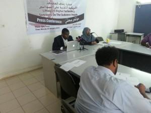 المؤتمر الصحفي لمبادرة رفع العقوبات التقنية عن السودانيين